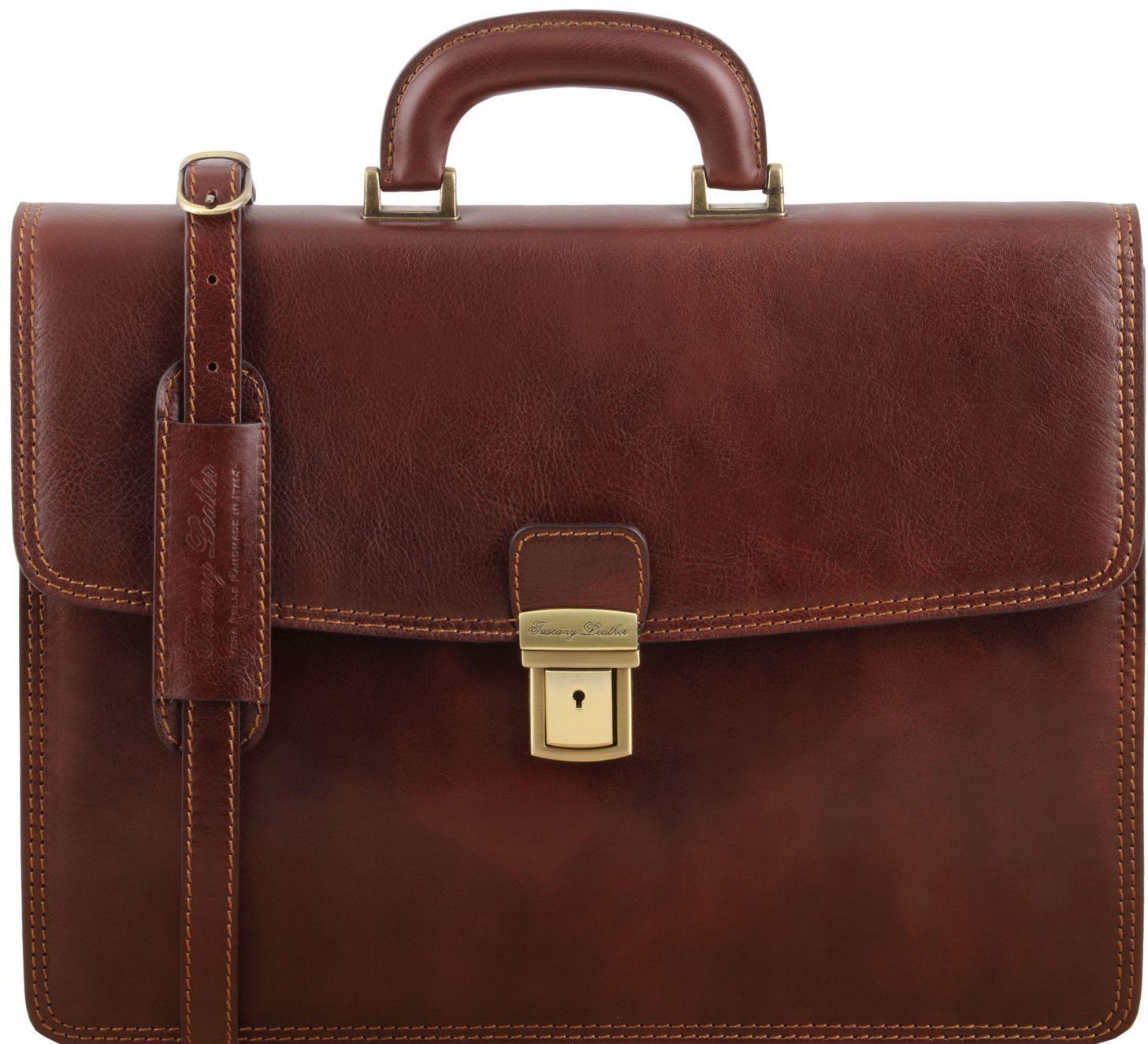 39f6adf007 Ανδρική Επαγγελματική Τσάντα Δερμάτινη Amalfi Καφέ Tuscany Leather ...