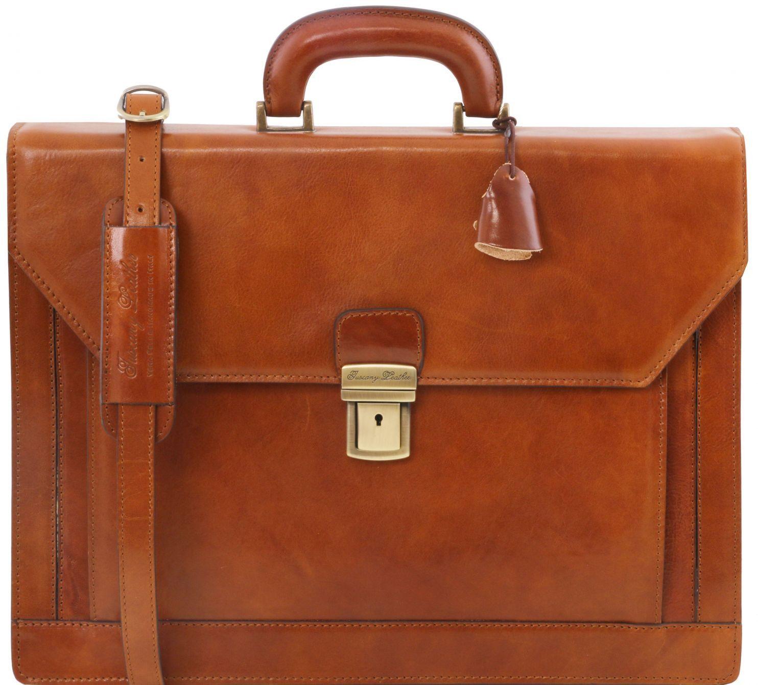 77d5991d41 Επαγγελματική Τσάντα Δερμάτινη Napoli Μελί Tuscany Leather