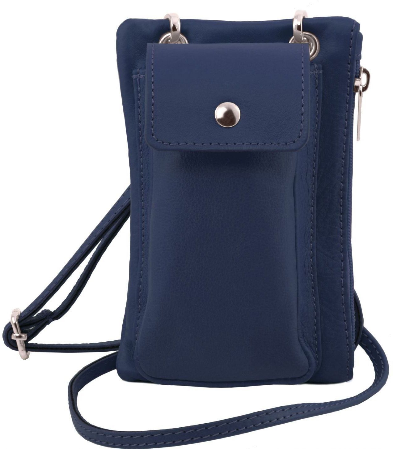 Unisex Τσαντάκι Δερμάτινο Mini Cross TL141423 Μπλε σκούρο Tuscany Leather γυναίκα   τσάντες ώμου   χειρός