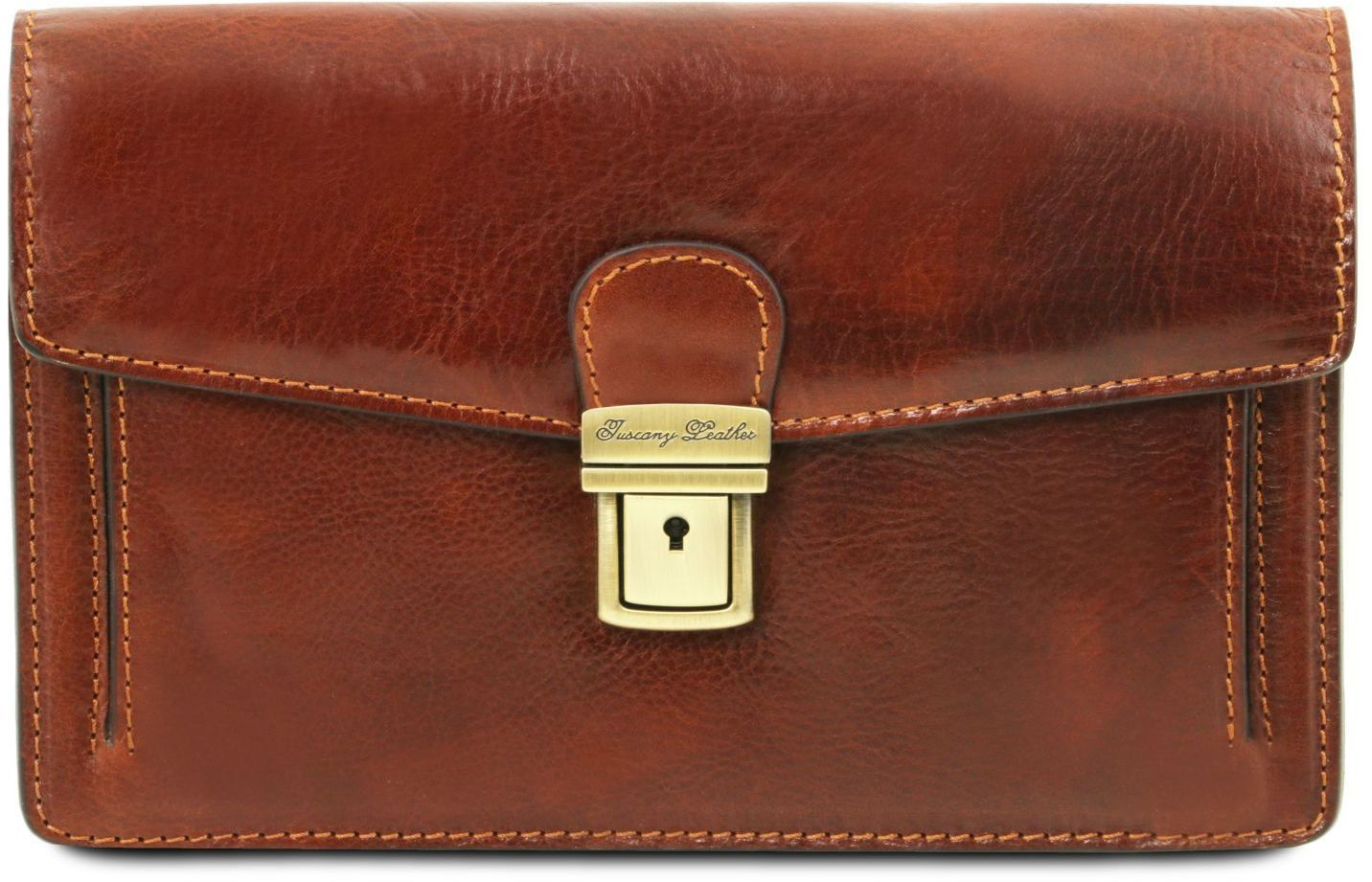 Ανδρικό Τσαντάκι Δερμάτινο Tommy Καφέ Tuscany Leather ανδρας   τσαντάκια