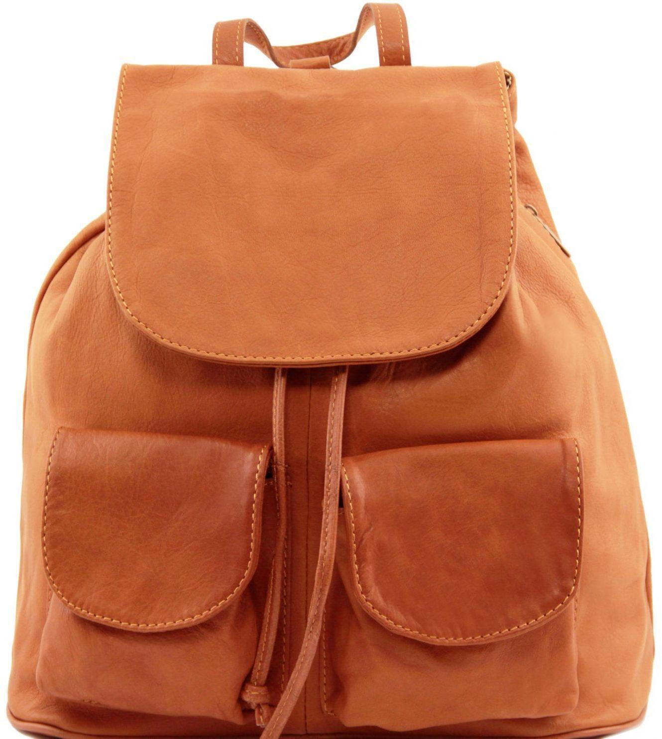 Γυναικεία Τσάντα Δερμάτινη Seoul L Κονιάκ Tuscany Leather γυναίκα   τσάντες πλάτης