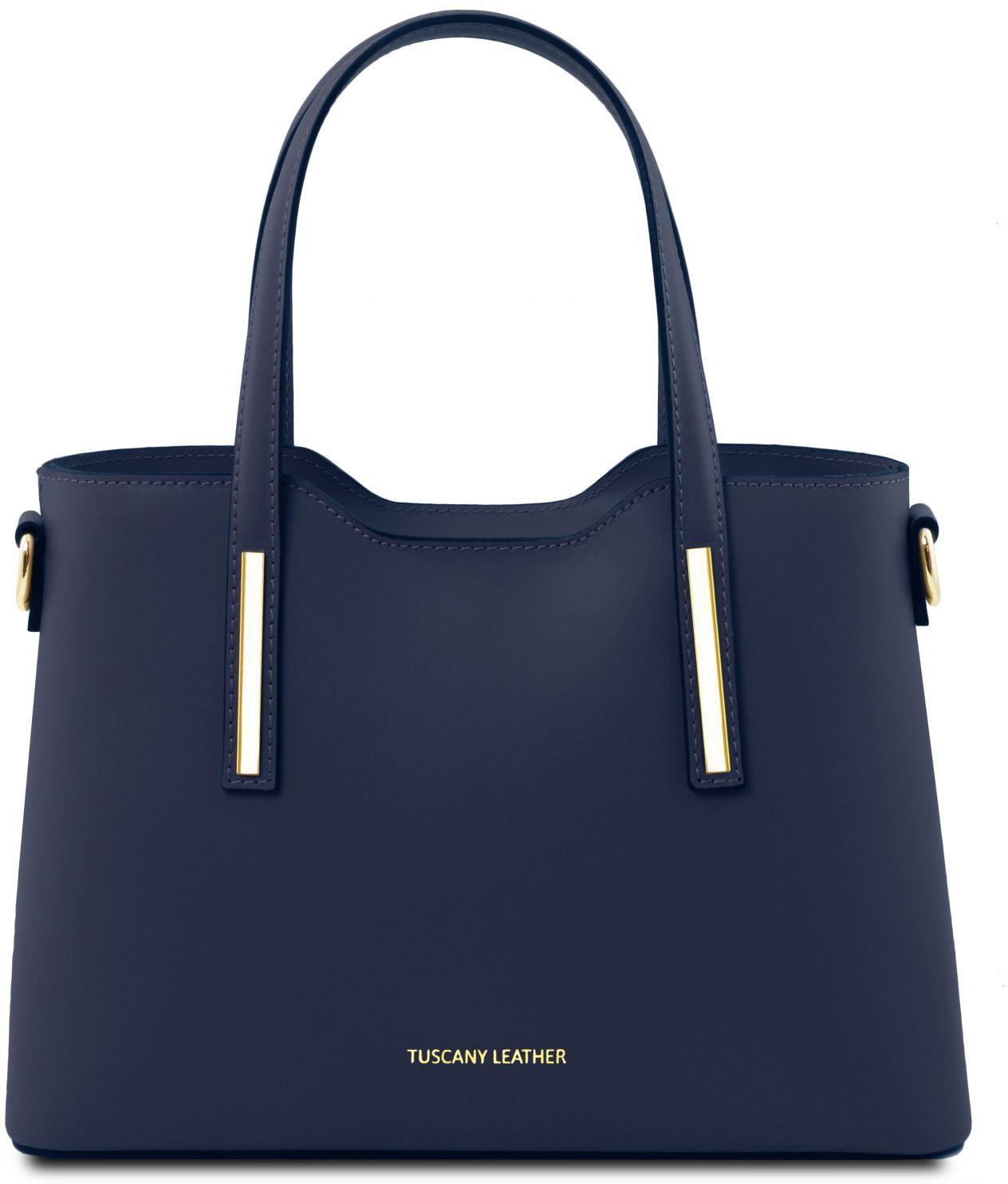 d5db2a65bc Γυναικεία Τσάντα Δερμάτινη Olimpia S Μπλε σκούρο Tuscany Leather