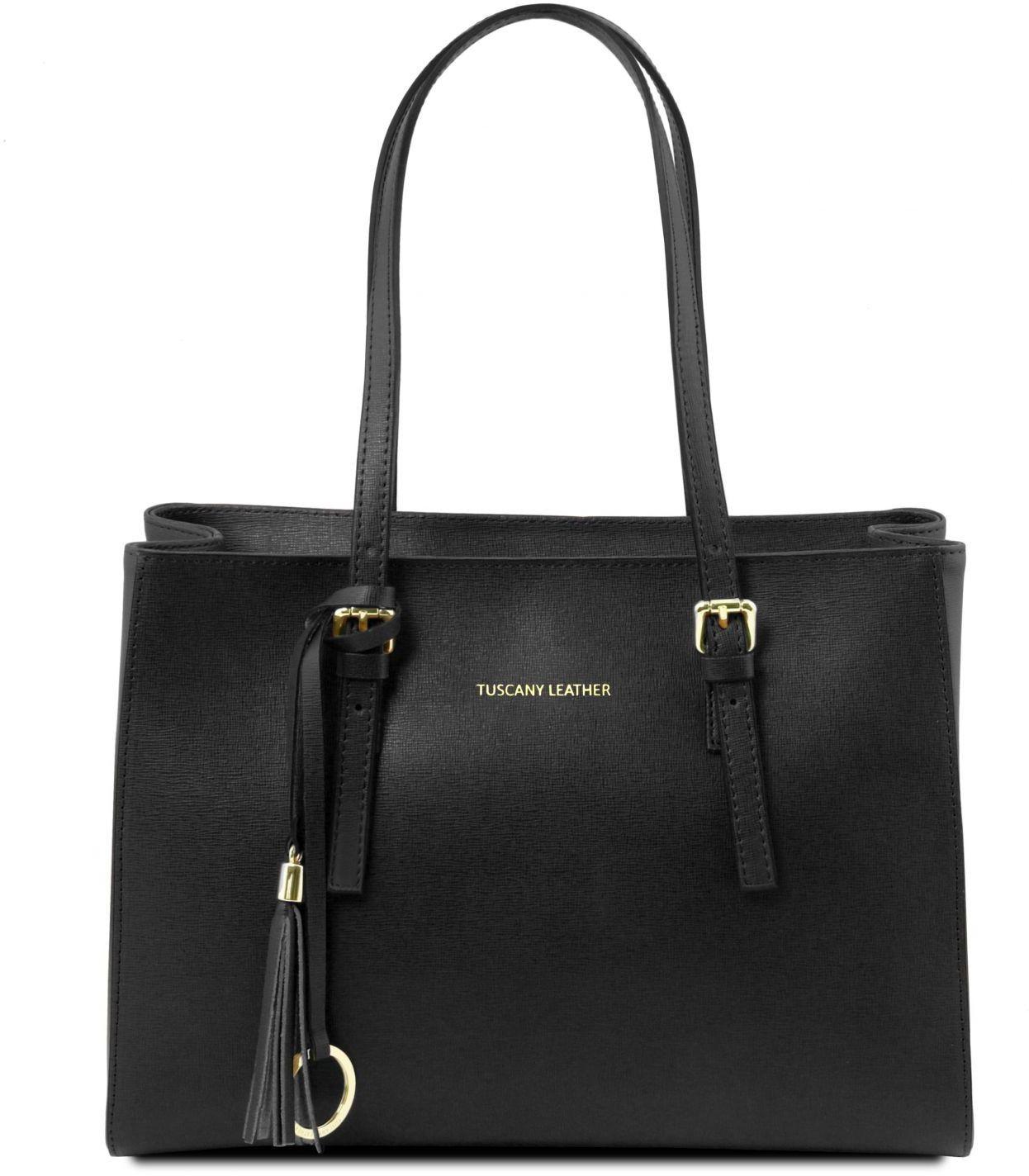 319800ea8a Γυναικεία Τσάντα Δερμάτινη TL141518 Μαύρο Tuscany Leather