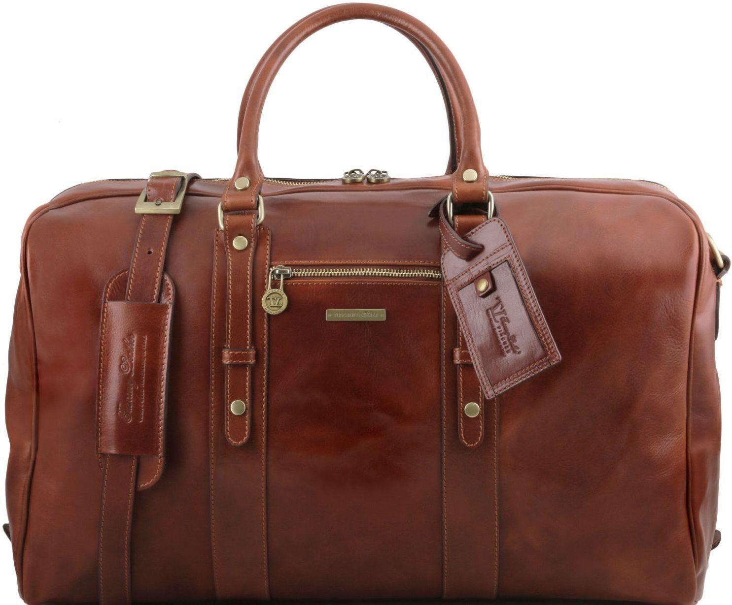 Σάκος ταξιδίου δερμάτινος TL Voyager – TL141401 Καφέ Tuscany Leather