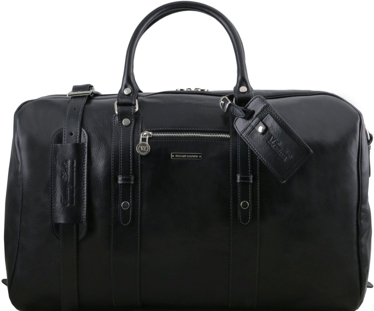 Σάκος ταξιδίου δερμάτινος TL Voyager – TL141401 Μαύρο Tuscany Leather