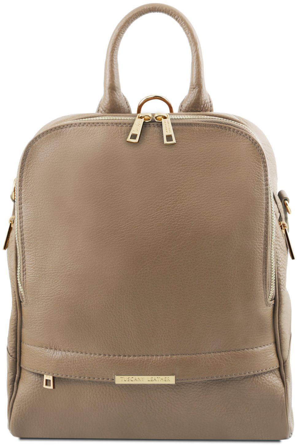 Γυναικεία Τσάντα Πλάτης Δερμάτινη TL141376 Σταχτί σκούρο Tuscany Leather c9651e404a8