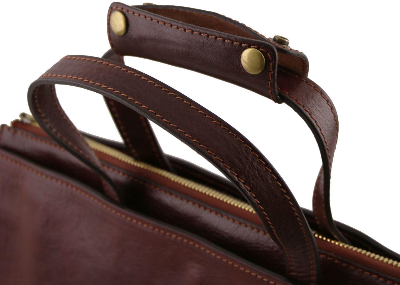 f69f35a301 ... Γυναικεία Επαγγελματική Τσάντα Δερμάτινη Palermo Καφέ Tuscany Leather  ...