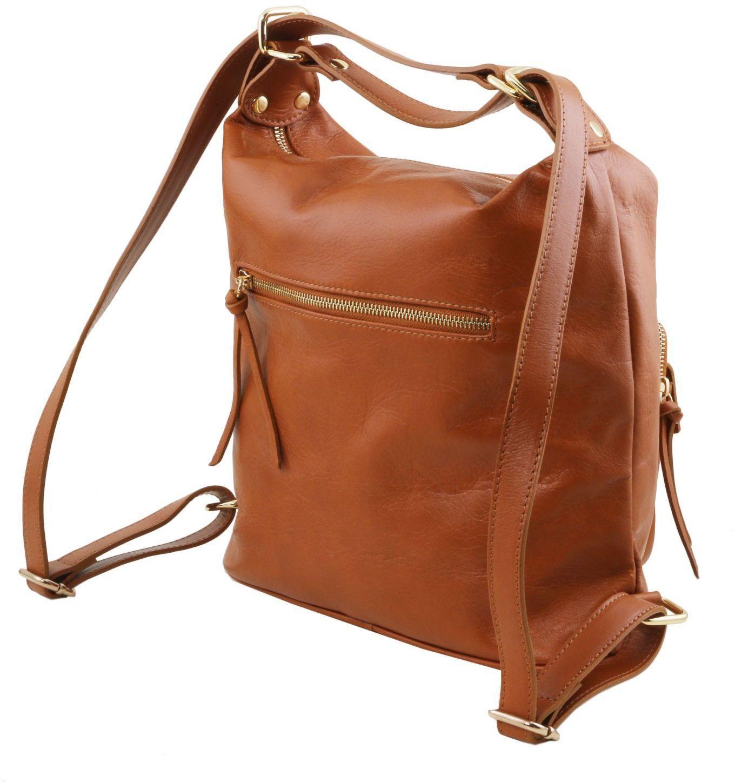 5db8f53deb ... Γυναικεία Τσάντα Δερμάτινη Ώμου   Πλάτης TL141535 Μαύρο Tuscany Leather  ...