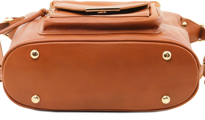 ... Γυναικεία Τσάντα Δερμάτινη Ώμου   Πλάτης TL141535 Σταχτί σκούρο Tuscany  Leather ... 1acf0b81c55