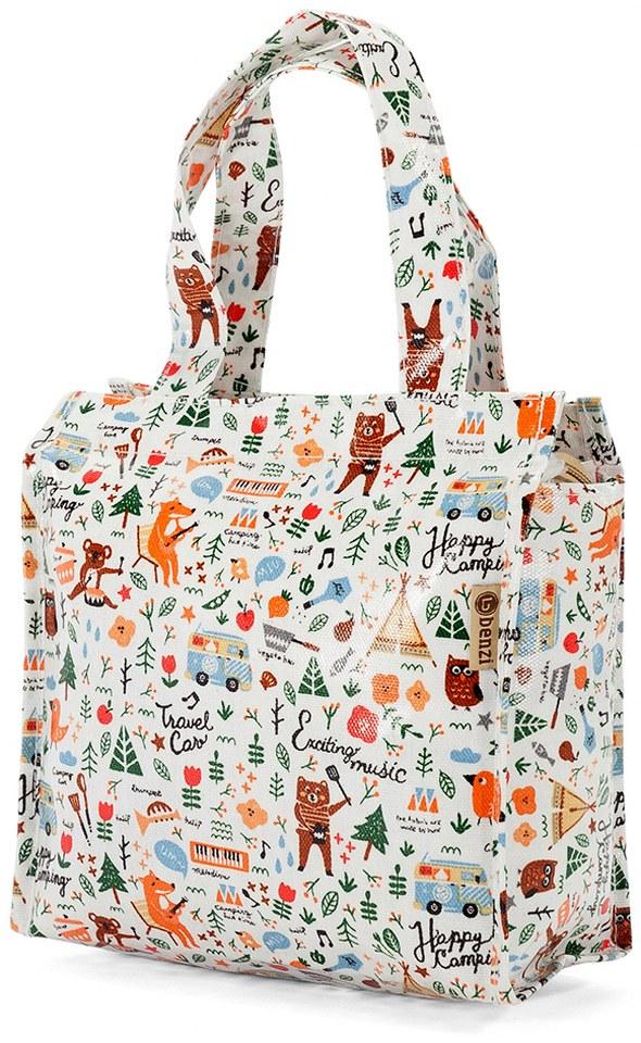 Τσάντα Shopping 24x21x11cm Animals Benzi BZ5281 Λευκό γυναίκα   shopping bags