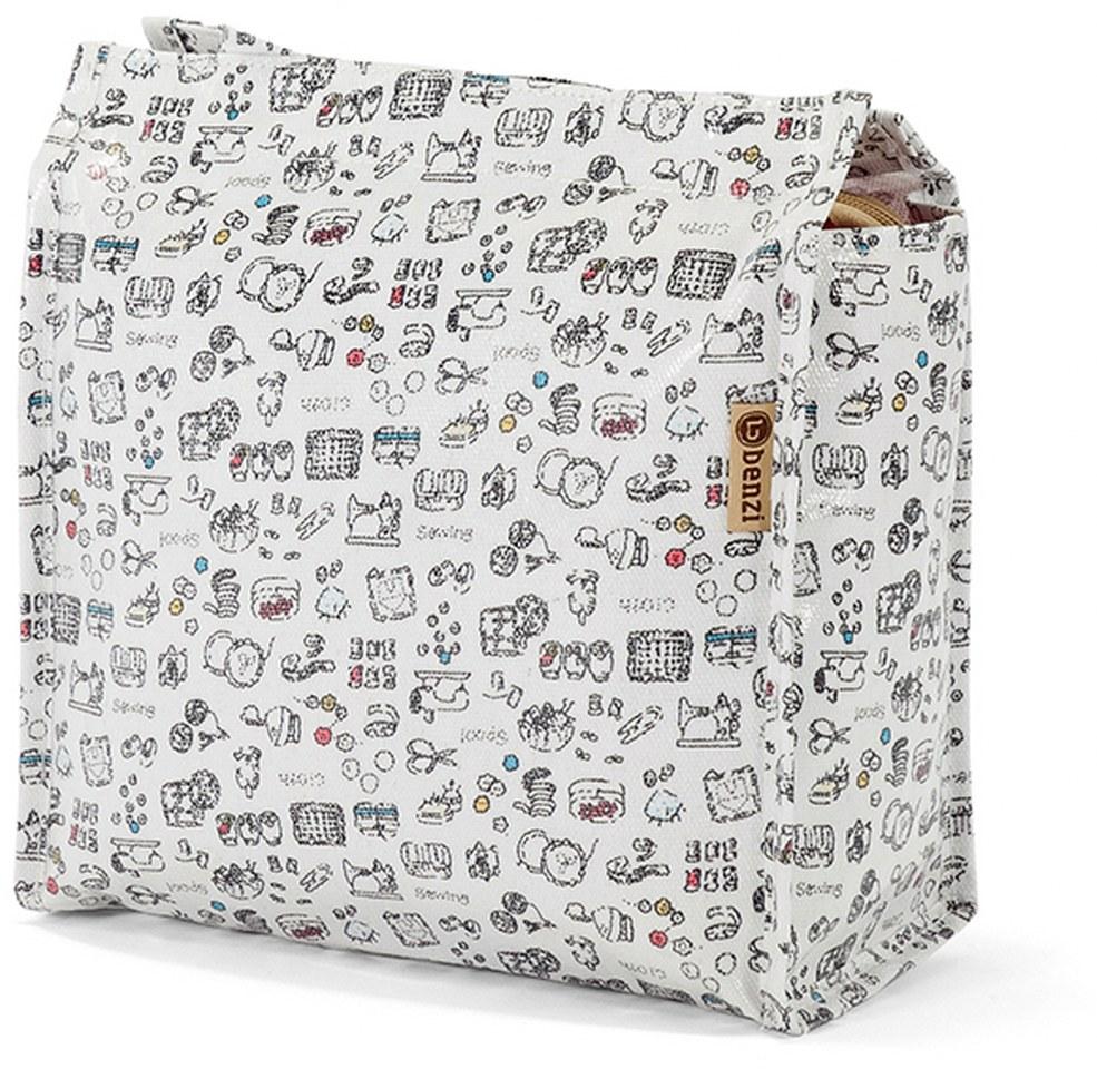 Τσάντα Shopping 32x27x12cm Animals Benzi BZ5282 Λευκό γυναίκα   shopping bags