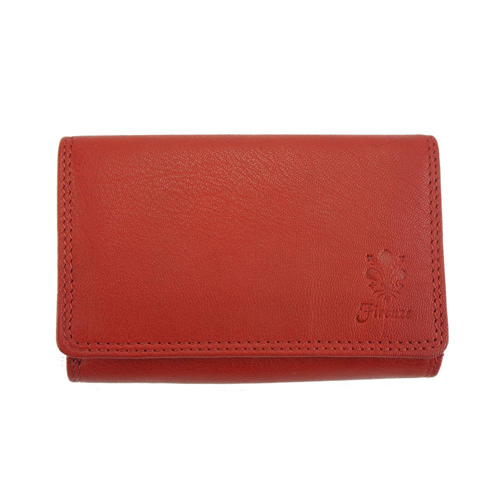 Δερμάτινο Πορτοφόλι Marta Firenze Leather PF060B Κόκκινο γυναίκα   πορτοφόλια