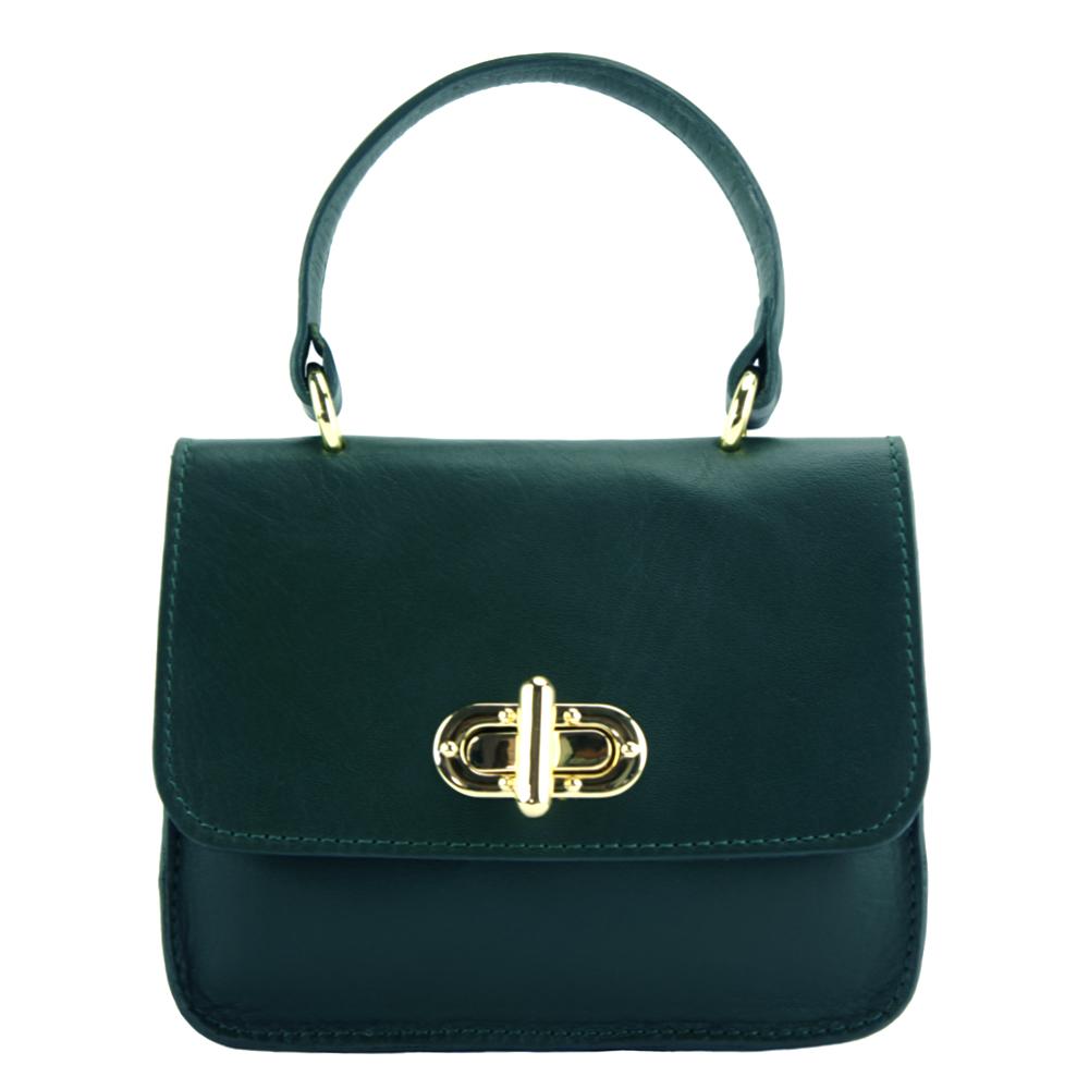 736cce8447 Δερμάτινη Τσάντα Χειρός Virginia Firenze Leather 8057 Σκούρο Τυρκουάζ