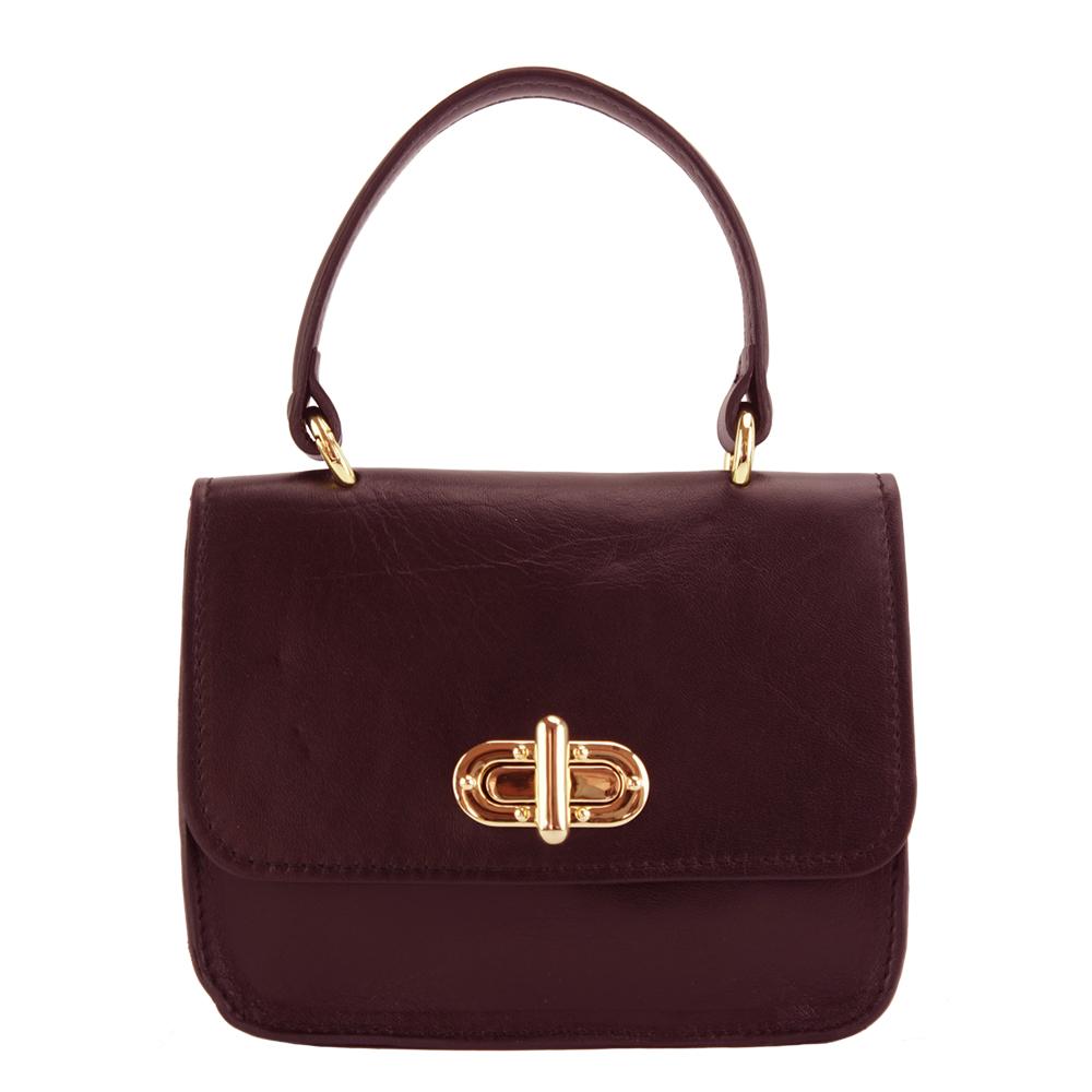 Δερμάτινη Τσάντα Χειρός Virginia Firenze Leather 8057 Μπορντο γυναίκα   τσάντες ώμου   χειρός