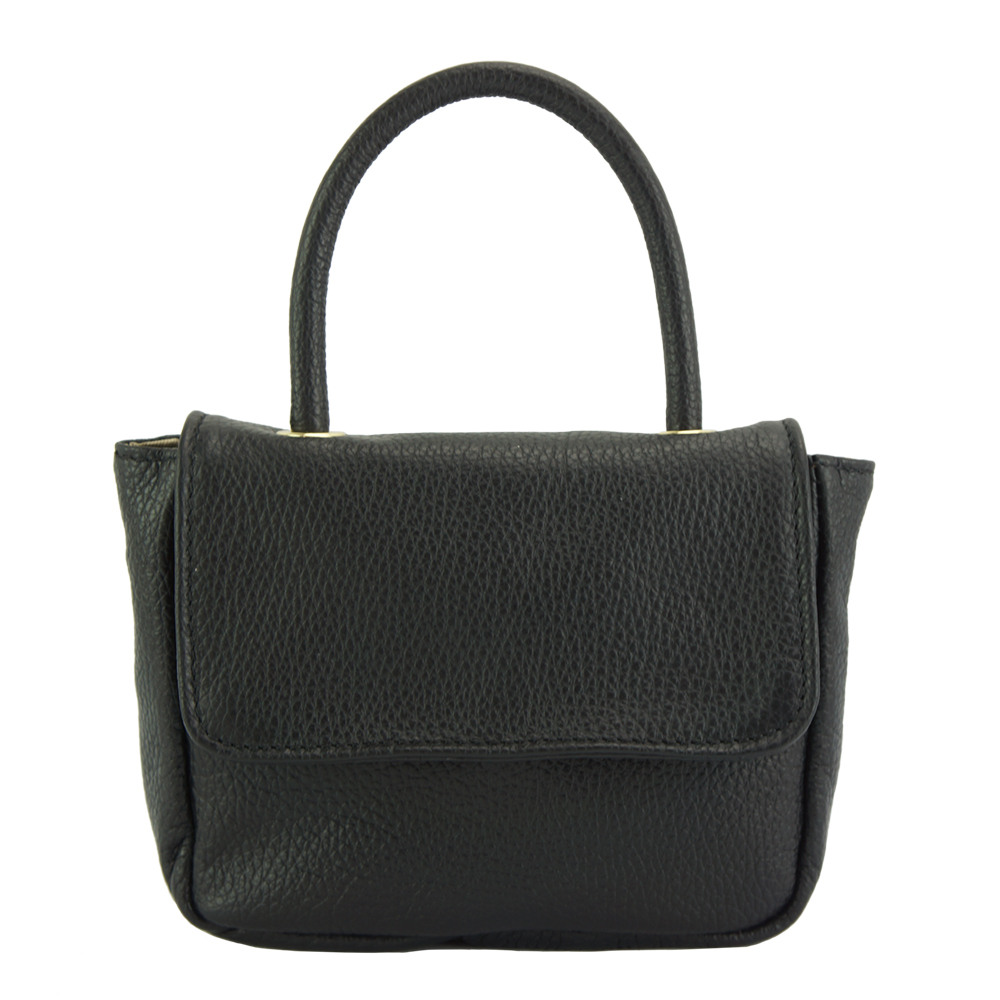51b8d57d139 Δερμάτινη Τσάντα Ώμου Bobbi Firenze Leather 9901 Μαύρο