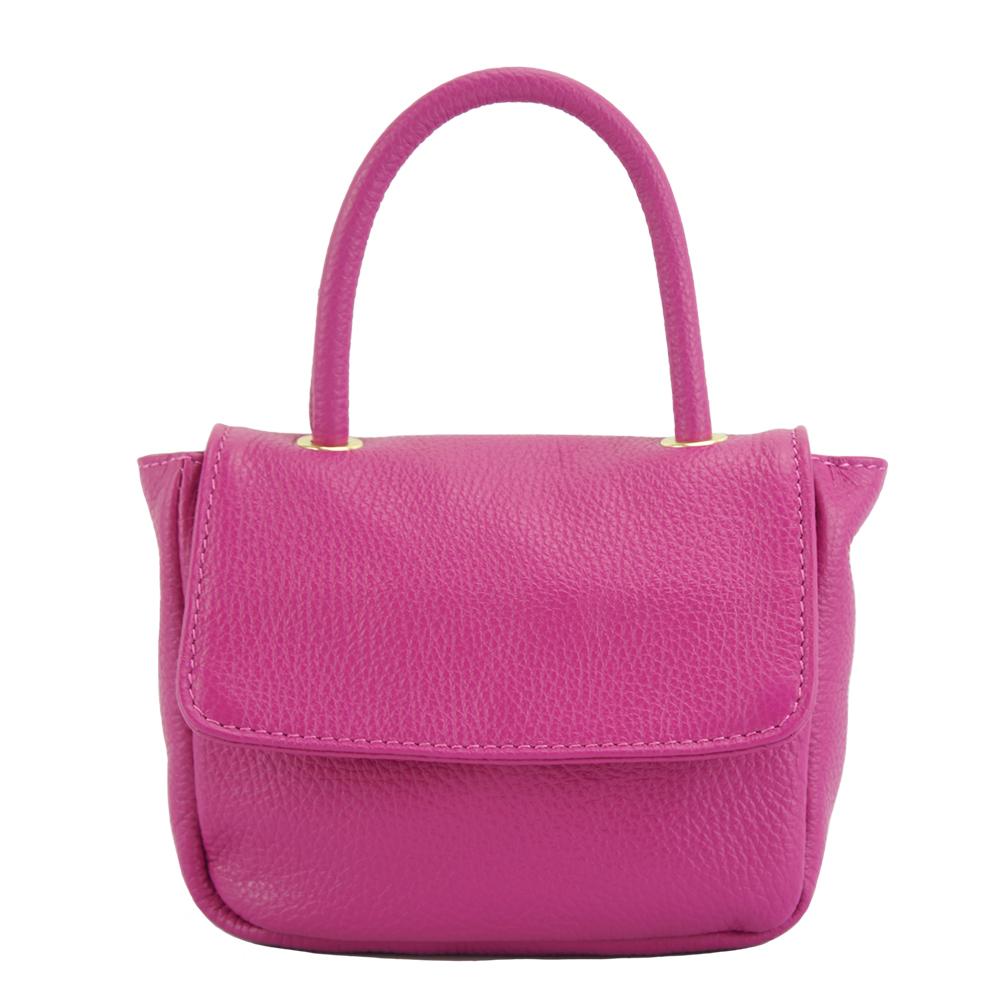 8f855e768f Δερμάτινη Τσάντα Ώμου Bobbi Firenze Leather 9901 Φούξια