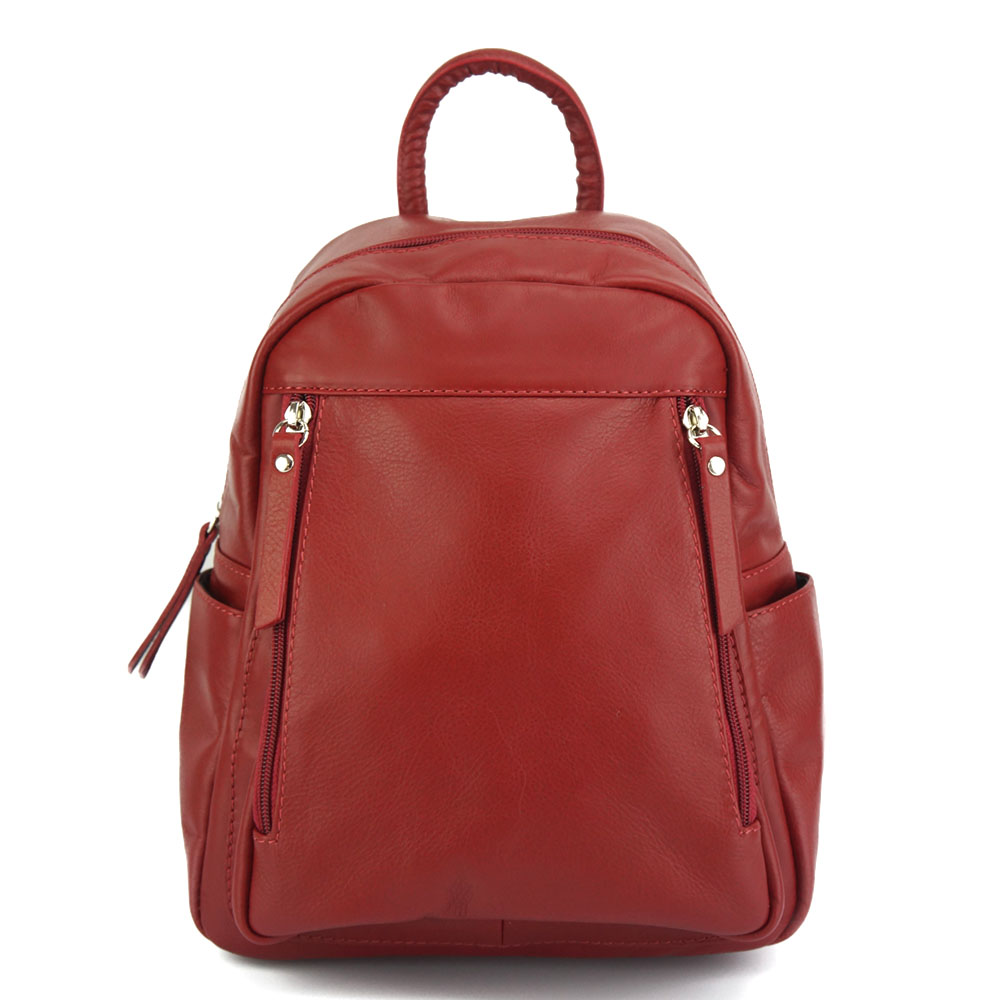 ad535dbe28 Δερμάτινη Τσάντα Πλάτης Santina Firenze Leather 6148 Σκούρο Κόκκινο