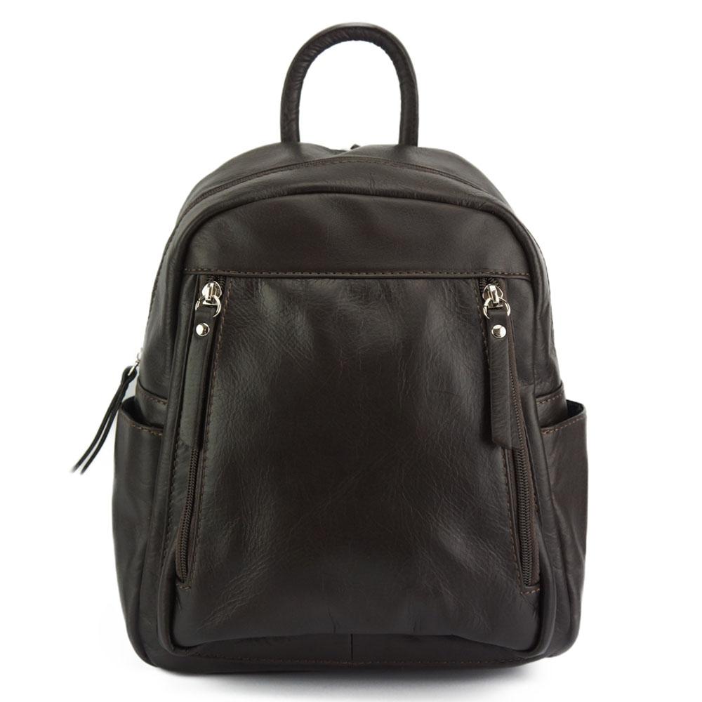 Δερμάτινη Τσάντα Πλάτης Santina Firenze Leather 6148 Σκούρο Καφέ