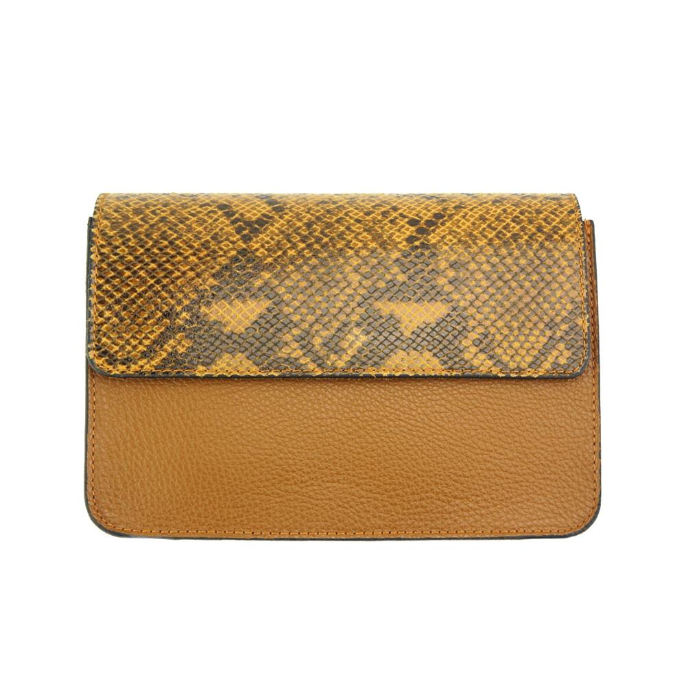 8b8245db84 Δερματινο Τσαντακι Iolanda Firenze Leather 9611 Tan