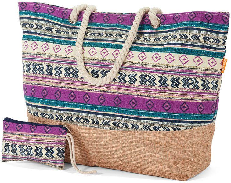 Τσάντα Θαλάσσης με πορτοφολακι Benzi BZ5284-Col3 Πολυχρωμο γυναίκα   τσάντες παραλίας