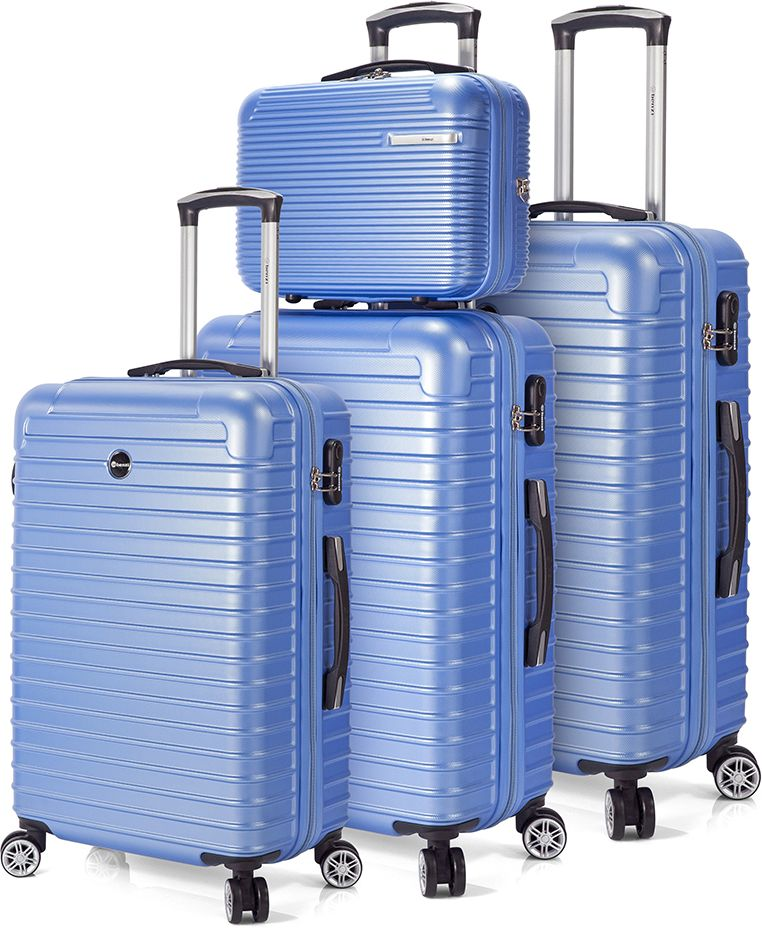 Σετ Βαλιτσες 3 τεμαχίων με 4 ροδες & Νεσεσερ Benzi BZ5332 Σιελ ειδη ταξιδιου   βαλίτσες   βαλίτσες   σετ βαλίτσες ταξιδίου