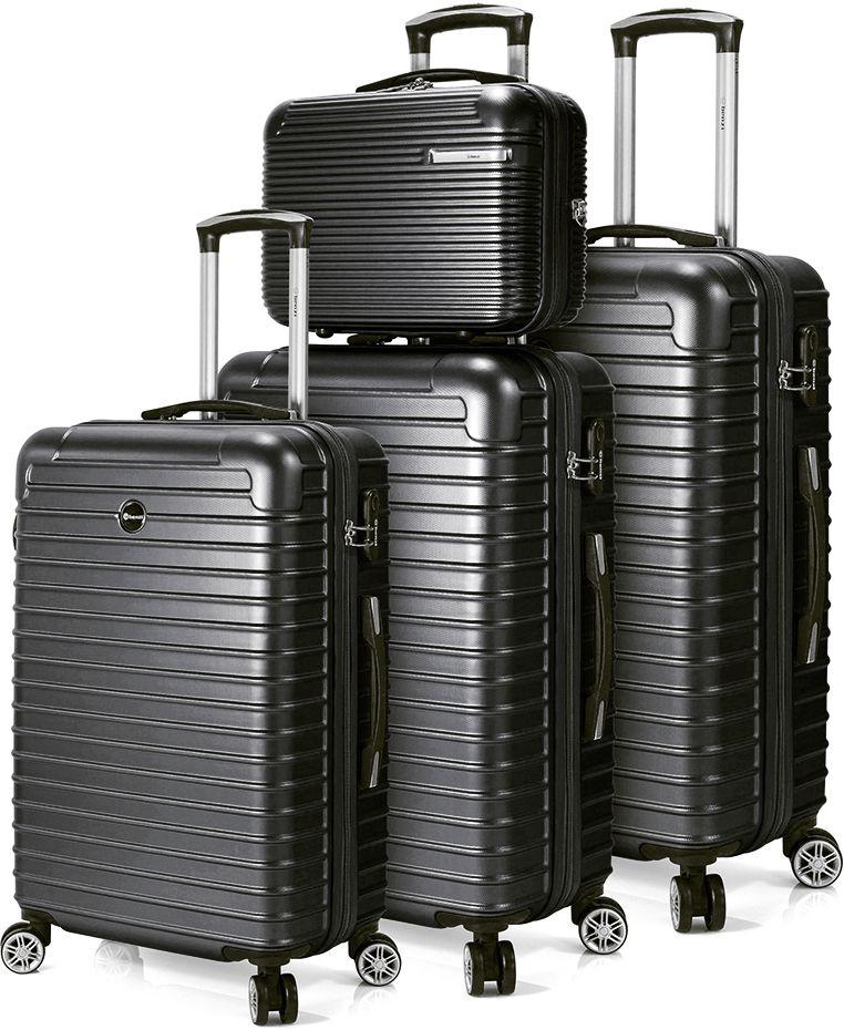 Σετ Βαλιτσες 3 τεμαχίων με 4 ροδες & Νεσεσερ Benzi BZ5332 Μαύρο ειδη ταξιδιου   βαλίτσες   βαλίτσες   σετ βαλίτσες ταξιδίου