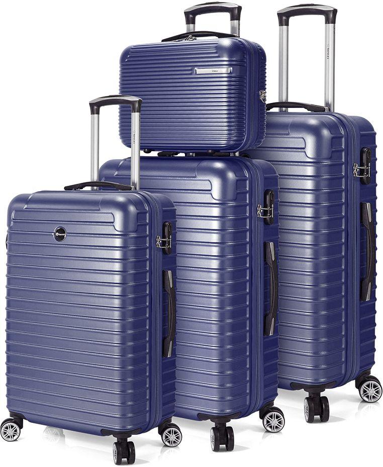 Σετ Βαλιτσες 3 τεμαχίων με 4 ροδες & Νεσεσερ Benzi BZ5332 Μπλε ειδη ταξιδιου   βαλίτσες   βαλίτσες   σετ βαλίτσες ταξιδίου