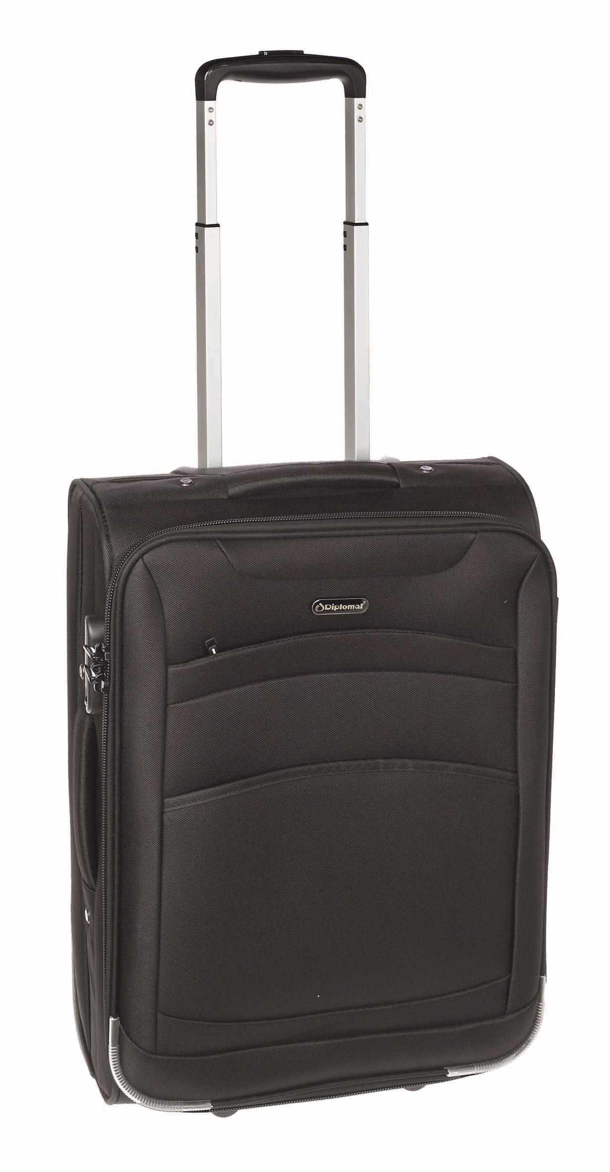 Βαλίτσα καμπίνας Diplomat ZC6018 55x40x20εκ Μαύρο
