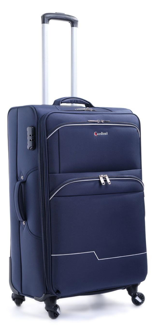 Βαλίτσα Καμπίνας με 4 Ρόδες & Επέκταση Cardinal 3300/50 Μπλε