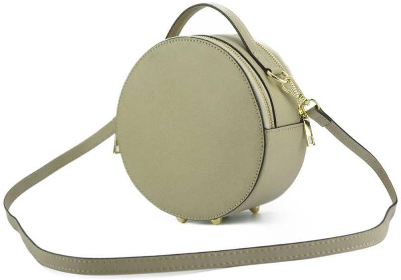 Δερμάτινη Τσάντα Χειρός Bice Firenze Leather 3025 Ανοιχτό Μπεζ