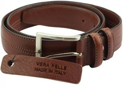 Δερμάτινη Ζώνη Natura Firenze Leather 01335 Καφέ 35mm/120cm