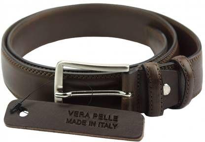 Δερμάτινη Ζώνη Liguri Firenze Leather 01635 Σκούρο Καφέ 35mm/120cm