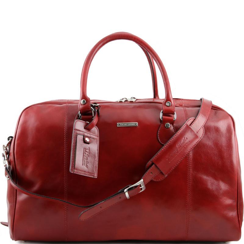 Σάκος Ταξιδίου Δερμάτινος TL Voyager Κόκκινο Tuscany Leather