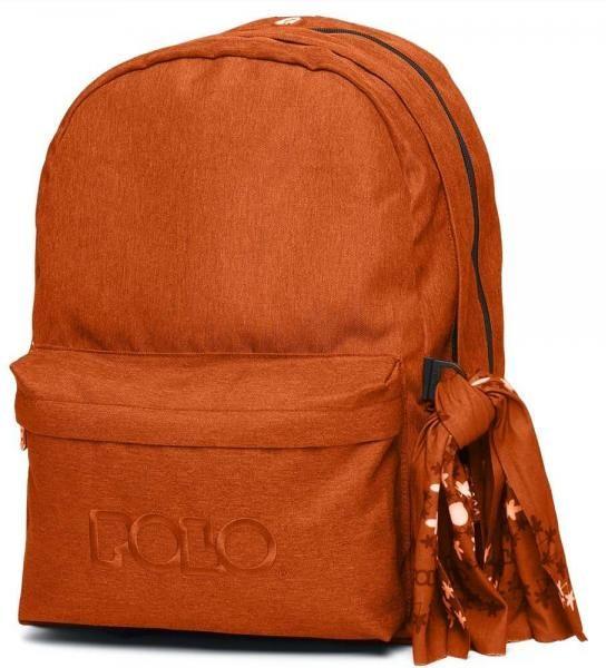 Σακίδιο Πλάτης POLO Original Double Scarf 9-01-235-14 Πορτοκαλί (2020)
