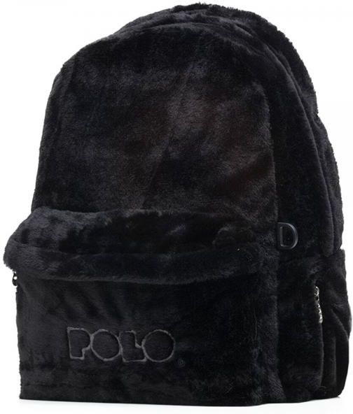 Σακίδιο Πλάτης POLO FUR Limited Edition 9-01-125-02 Μαύρο