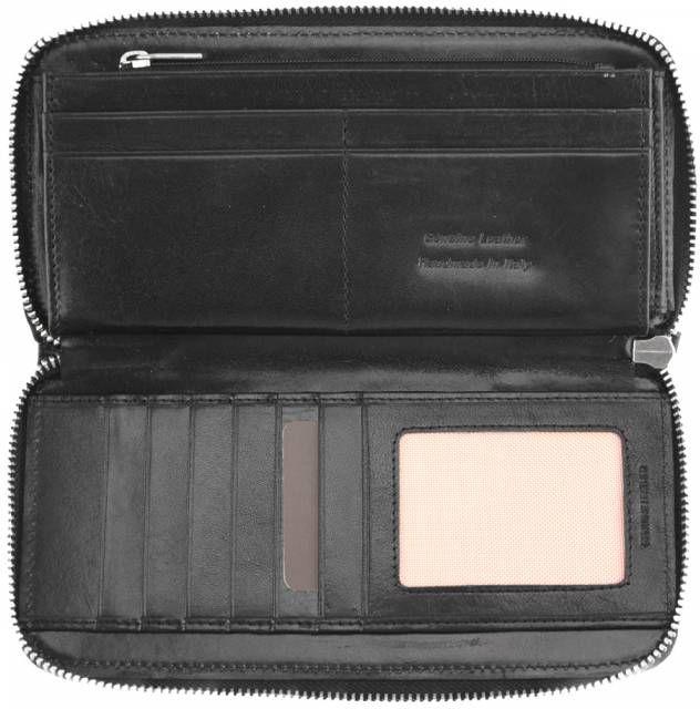 Δερμάτινο Πορτοφόλι Zippy V Firenze Leather 5377 Μαύρο