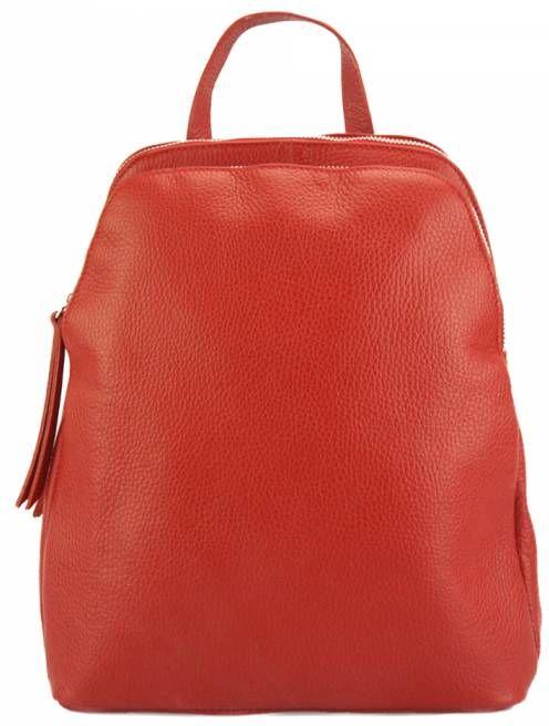 Δερμάτινο Backpack Rosa Firenze Leather 9142 Κόκκινο