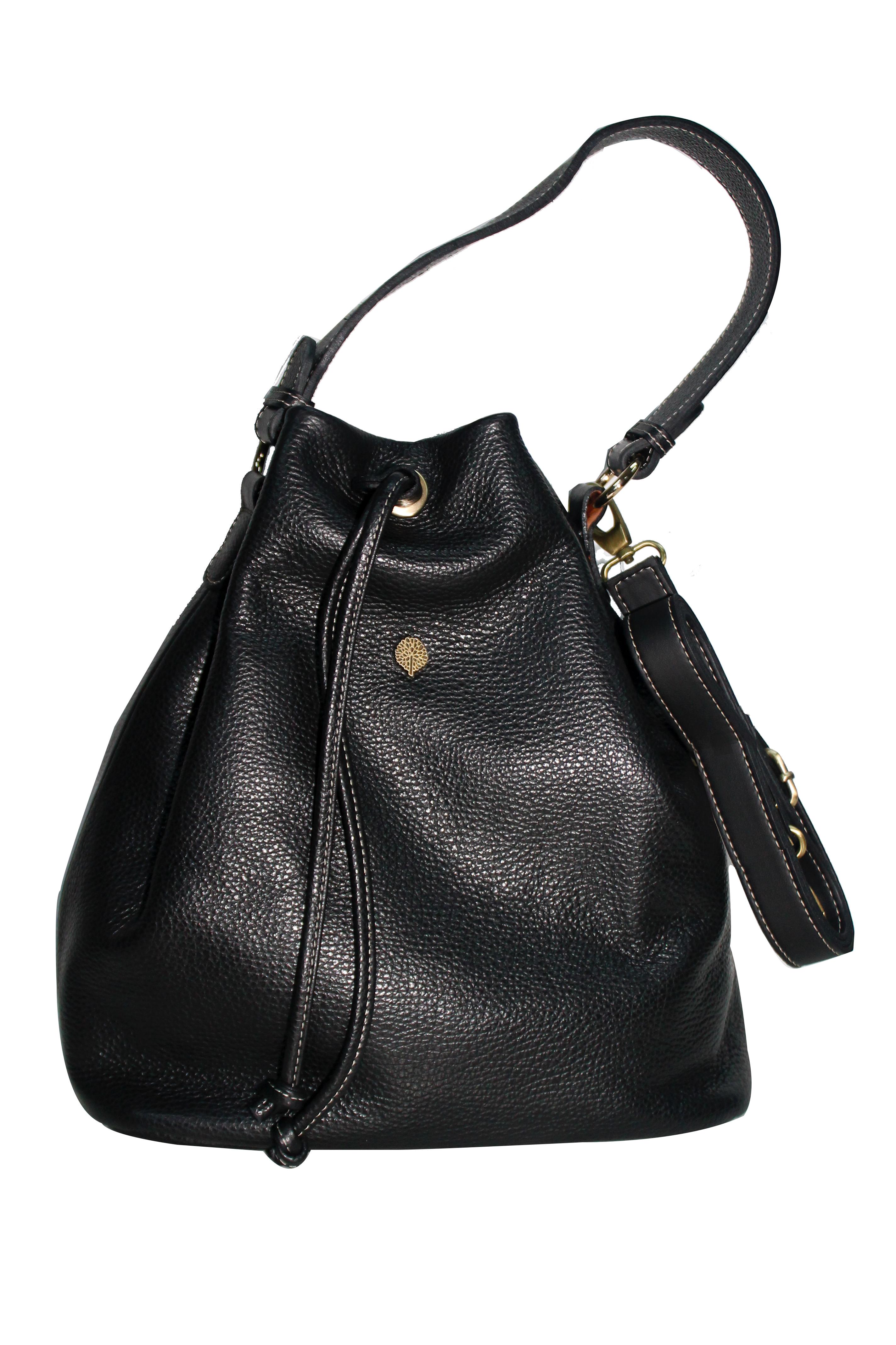 Τσάντα ώμου δερμάτινη Thiros D10-8259-GLBlack