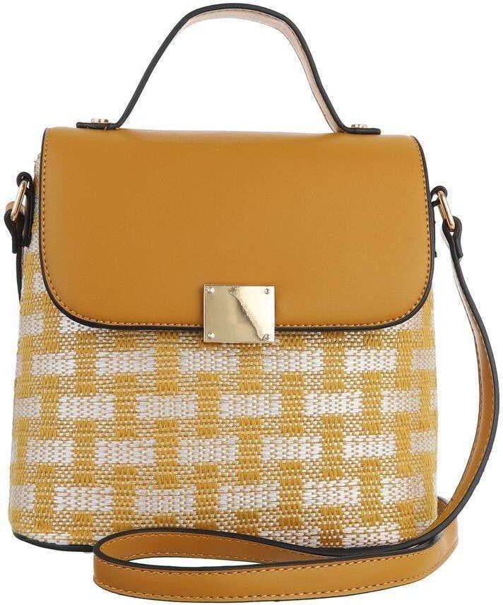 Τσάντα Ώμου Cardinali QR3603 Κίτρινο