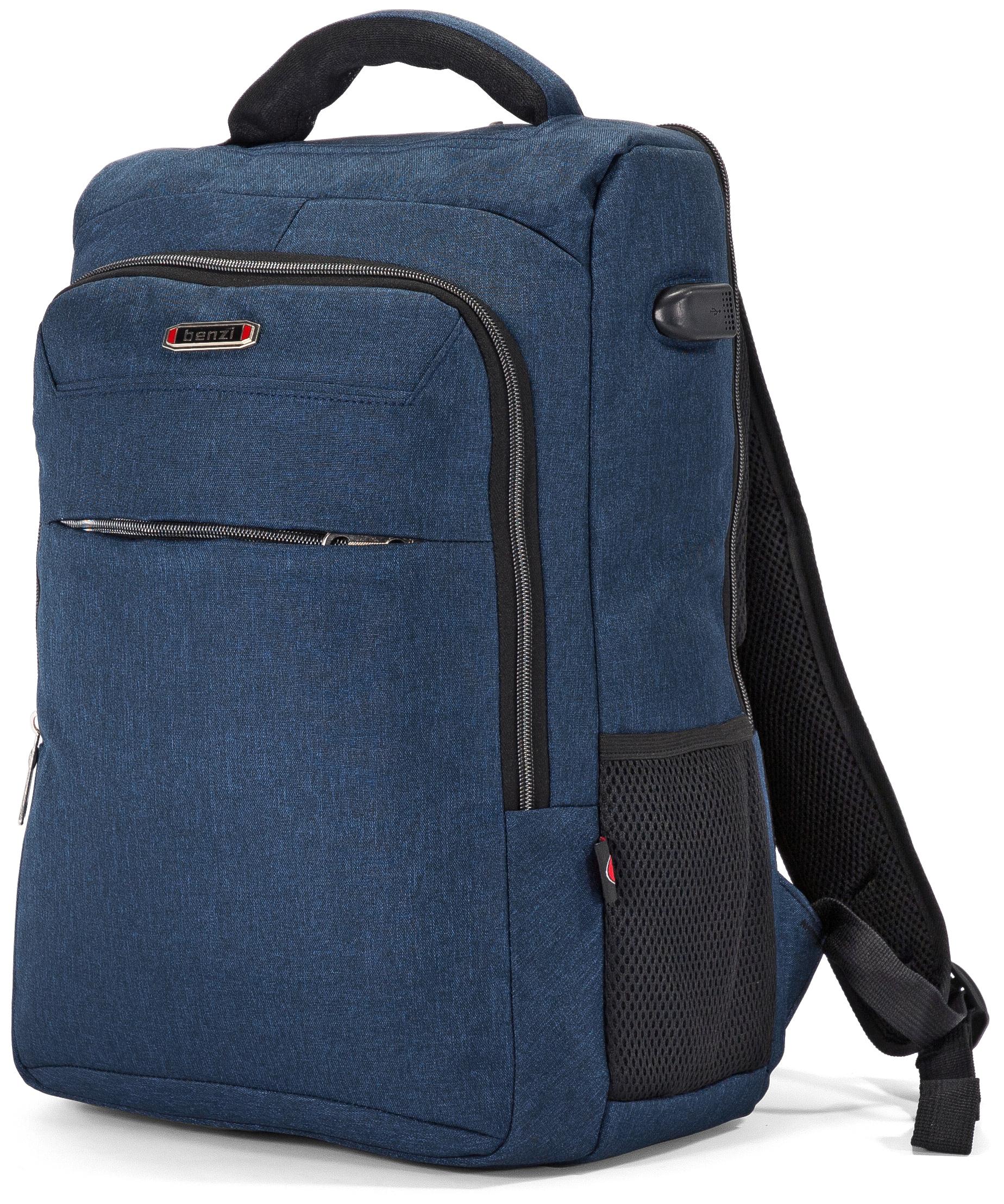 Τσάντα Πλάτης για Laptop 15.6 ίντσες Benzi BZ5448 Μπλε