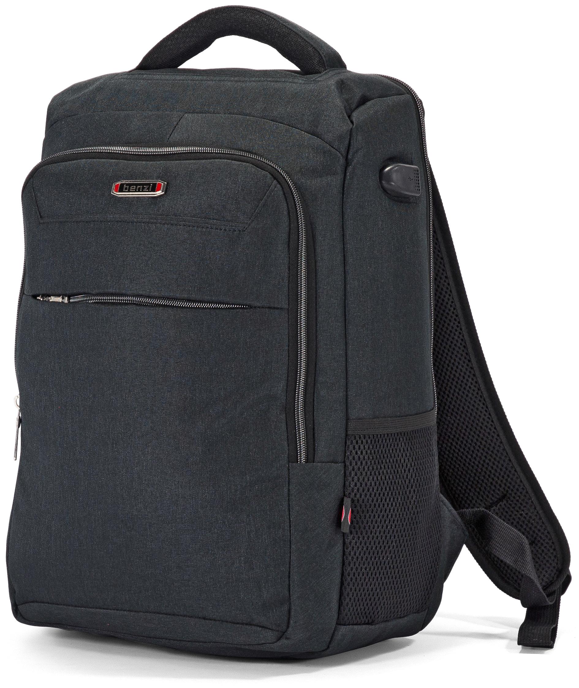 Τσάντα Πλάτης για Laptop 15.6 ίντσες Benzi BZ5448 Μαύρο