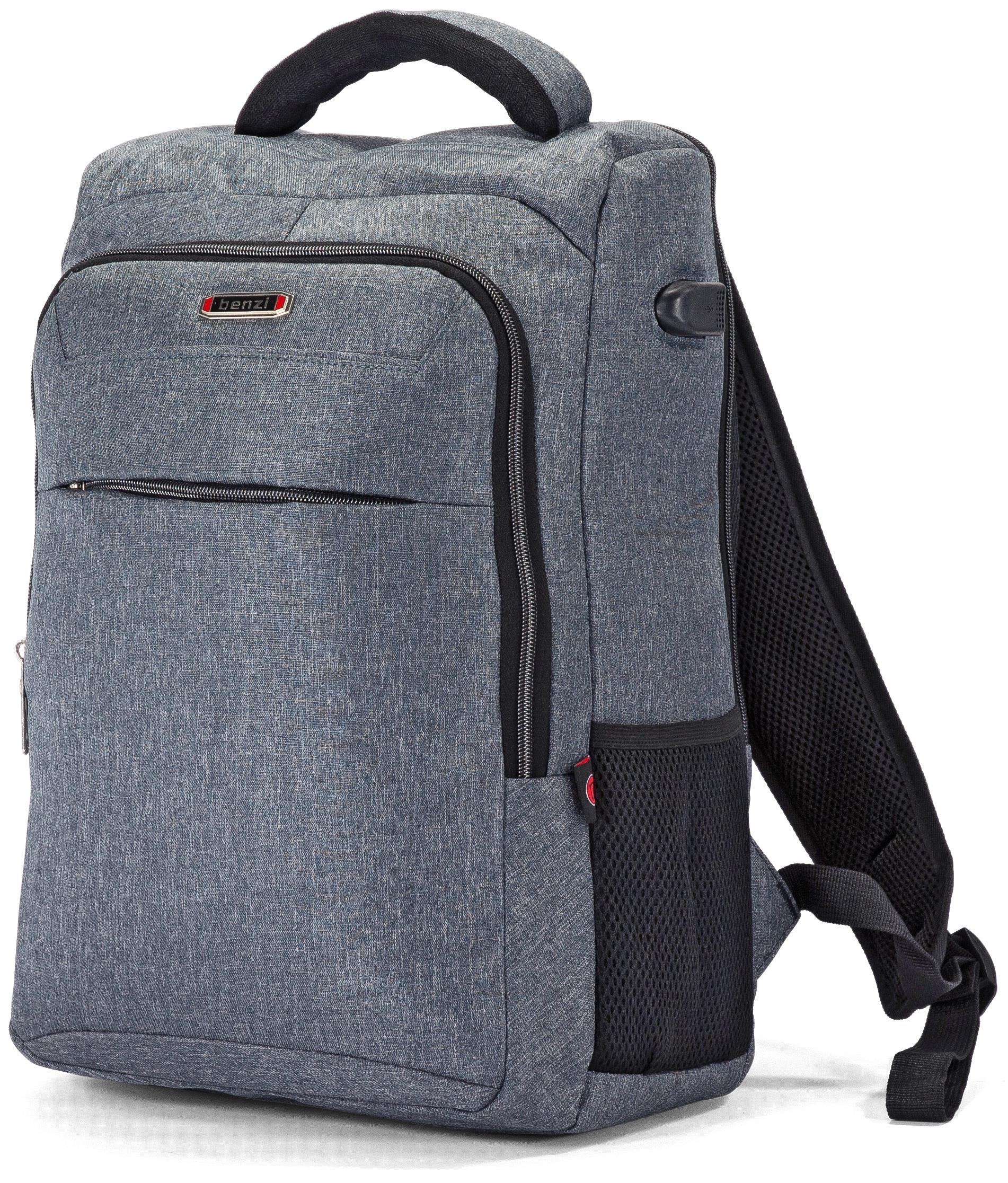 Τσάντα Πλάτης για Laptop 15.6 ίντσες Benzi BZ5448 Γκρι