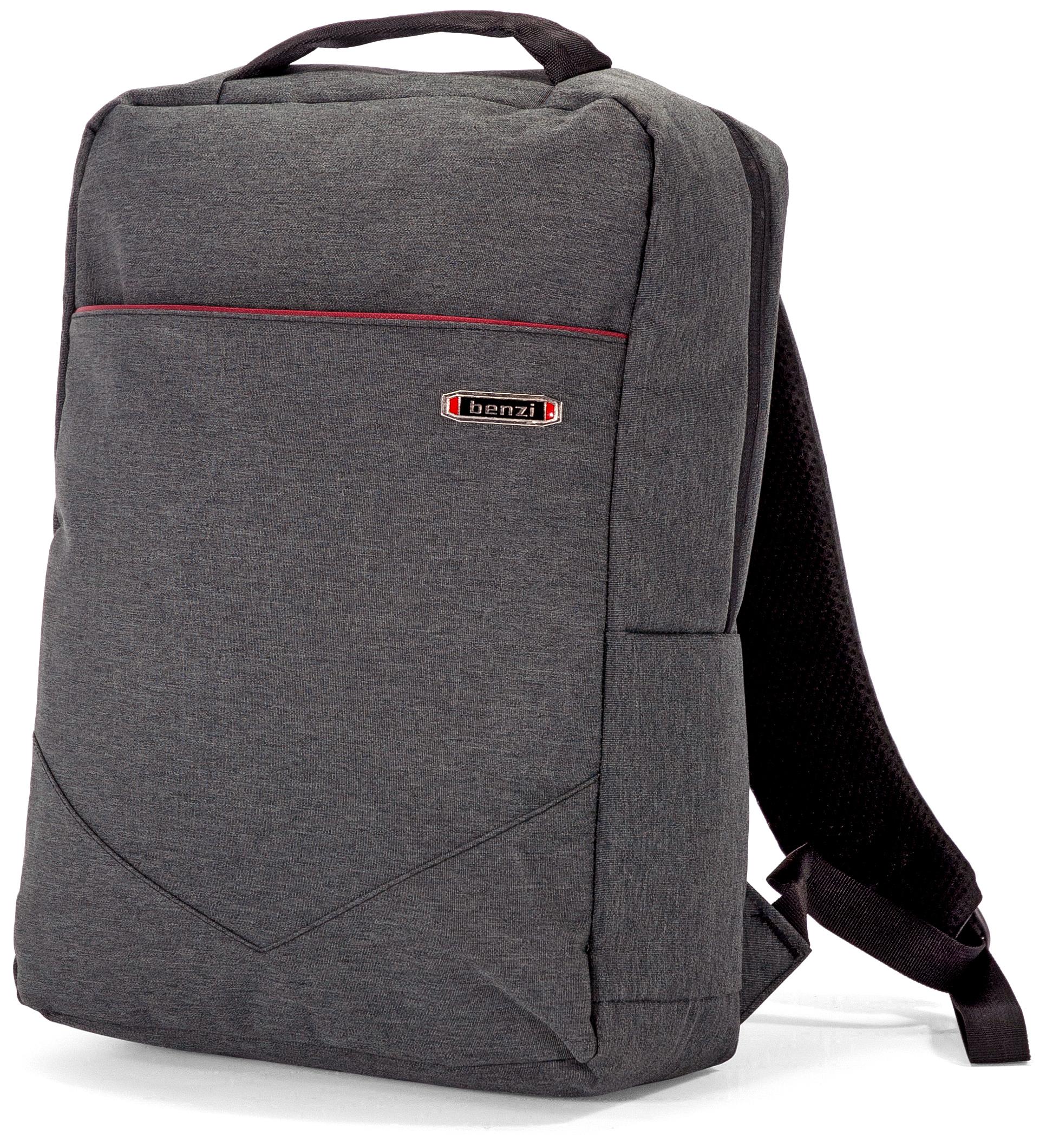 Τσάντα Πλάτης για Laptop 15.6 ίντσες Benzi BZ5454 Γκρι
