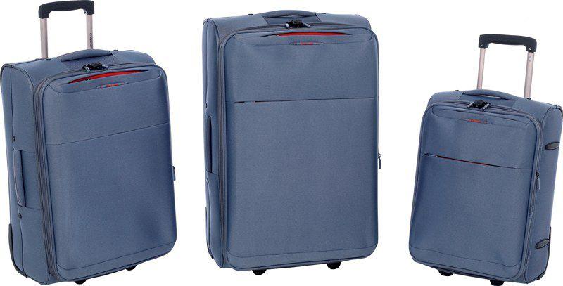 Σετ Βαλίτσες 3 τεμαχίων τρόλεϊ Diplomat ZC 6039 Μπλε ειδη ταξιδιου   βαλίτσες   βαλίτσες   σετ βαλίτσες ταξιδίου