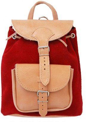 Δερμάτινη Τσάντα Πλάτης 18x22 εκ. Kouros 615 Κόκκινο γυναίκα   τσάντες πλάτης