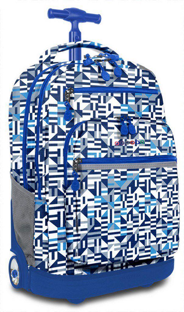 Jworld Τσαντα Τρολει Sundance GIM 395-00002 66-Geo Blue παιδί   τσάντες δημοτικού   για αγορια