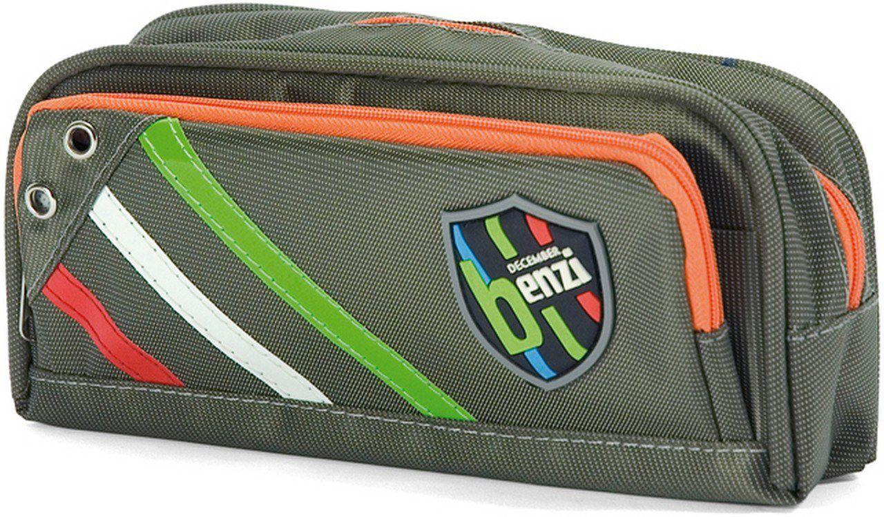 Κασετίνα Βαρελάκι Benzi BZ3911 Γκρι σχολικες τσαντες   τσάντες δημοτικού   κασετίνες