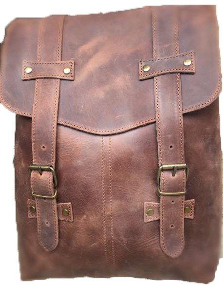 Δερμάτινη Τσάντα Πλάτης 29x39 εκ. Kouros 170 Καφε Ανοιχτο γυναίκα   τσάντες πλάτης