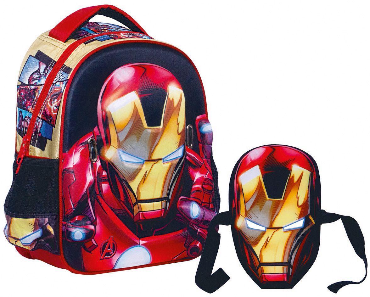 5faa2a4e02 Τσαντα Νηπιαγωγειου Avengers Iron Man + Μασκα GIM 337-24054 IRON MAN