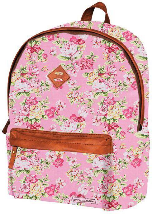 Τσάντα δημοτικού ροζ λουλούδια με 2 θήκες 41x32x14 εκ. Marshmallow 28757 παιδί   τσάντες δημοτικού   για κοριτσια